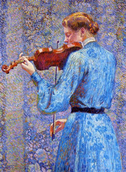 The Violinist, 1903 - Theo van Rysselberghe
