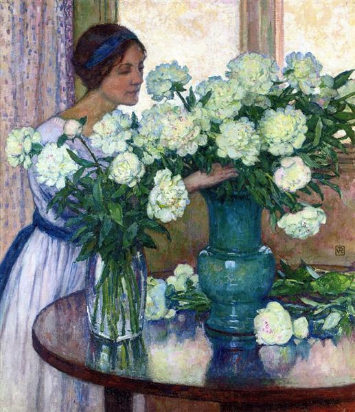 White Peonies, 1913 - Theo van Rysselberghe