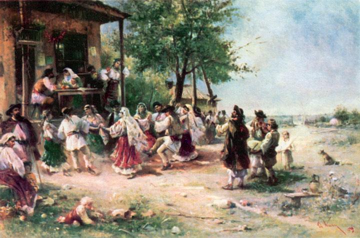 Round-dance at Aninoasa, 1890 - Theodor Aman