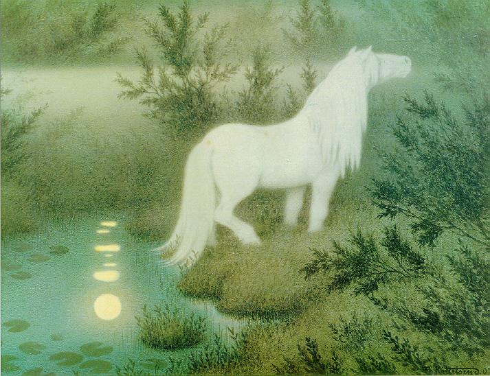 Noekken Som Hvit Hest