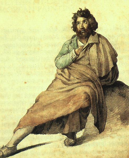 An Italian montagnard - Théodore Géricault