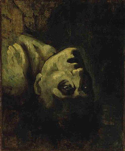 Tête d'un homme noyé, c.1819 - Théodore Géricault