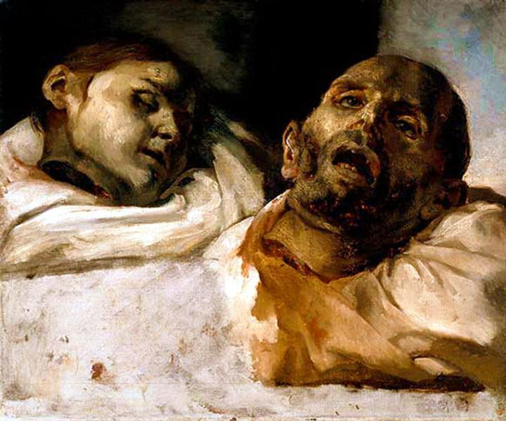 Heads of Torture Victims (study for The Raft of the Medusa) - Theodore Gericault