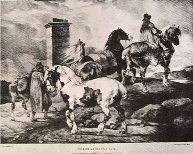 Horses going to a fair, 1821 - Théodore Géricault