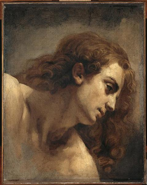 The head of young man - Théodore Géricault
