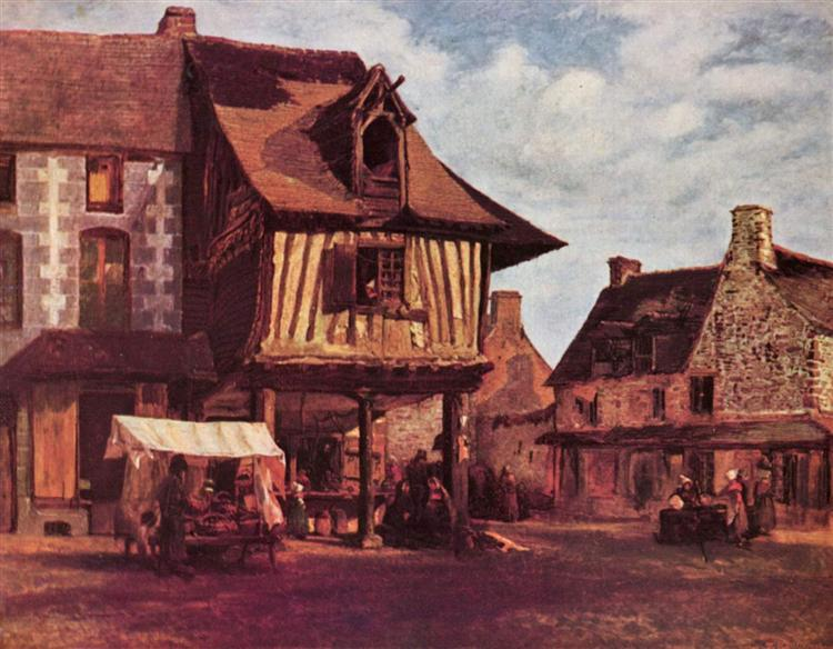 Market in the Normandy, c.1845 - c.1848 - Theodore Rousseau