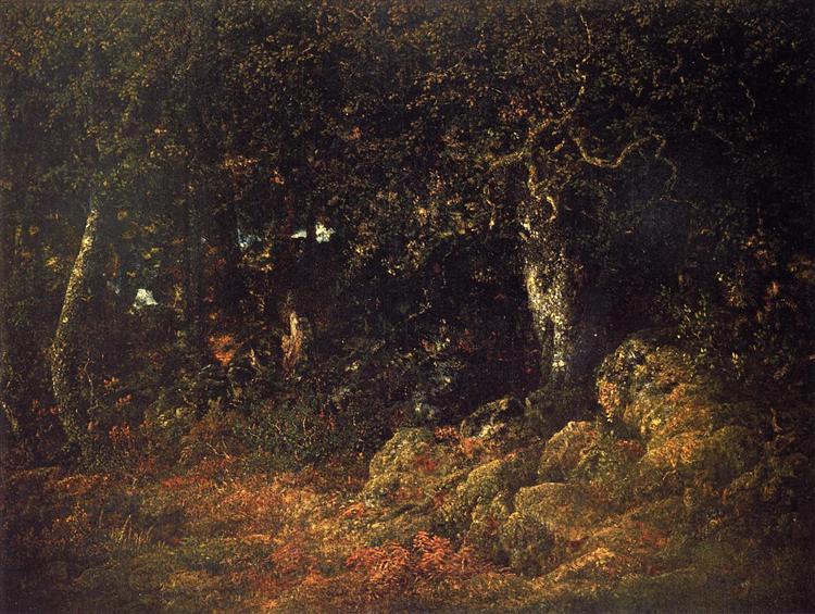 The Oak in the Rocks, 1860 - Theodore Rousseau