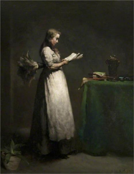 The Studious Servant, 1871 - Theodule Ribot