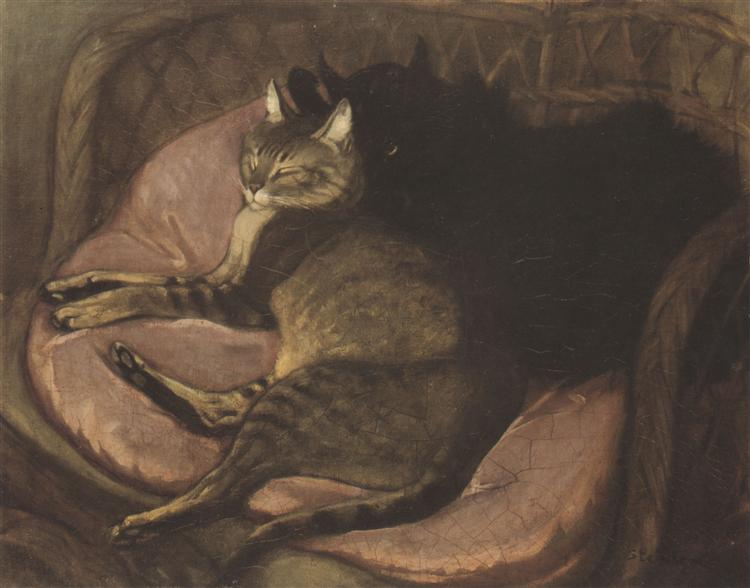 Cats on the Sofa, 1908 - Theophile Steinlen