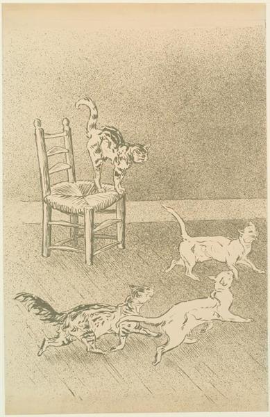 Cats race, 1898 - Theophile Steinlen