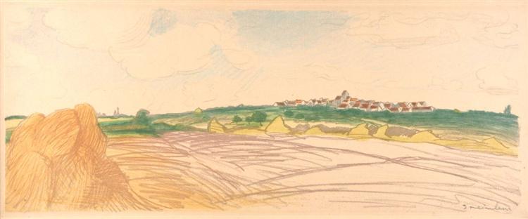Color litho landscape - Theophile Steinlen
