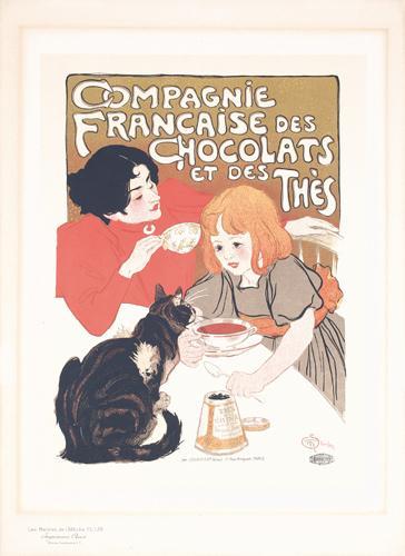 Compagne Francaise des Chocolats Maitres de l'Affiche, 1895 - Theophile Steinlen