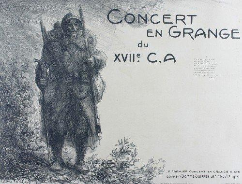 Concert En Grange, 1916 - Theophile Steinlen