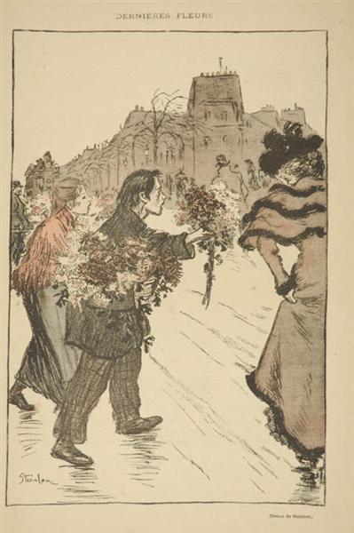 Dernieres Fleurs, 1893 - Theophile Steinlen