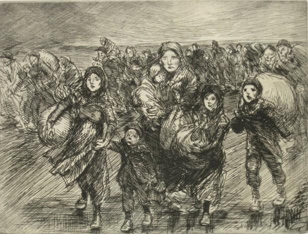 Devant L'Invasion, 1915 - Theophile Steinlen