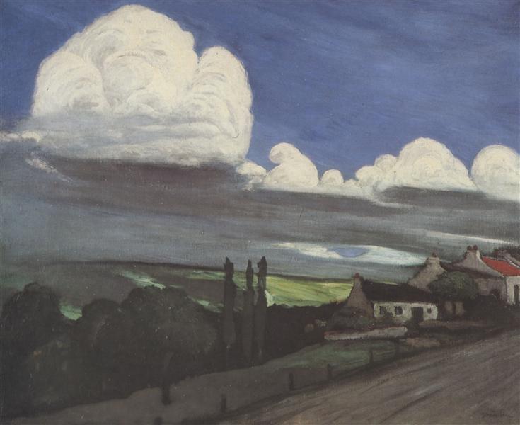 Dorf Im Gewitter, 1895 - Theophile Steinlen