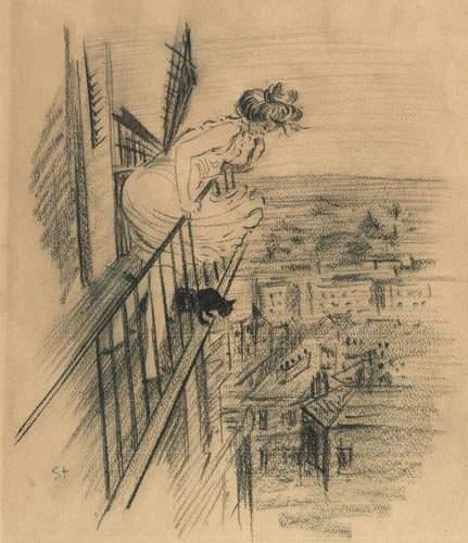 Fin de Bai sketch, 1897 - Theophile Steinlen