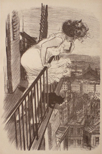 Fin de bail litho, 1897 - Теофиль Стейнлен