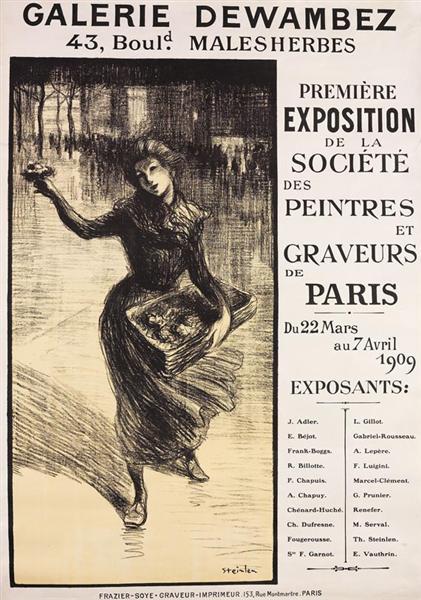 Galerie Dewambez, 1909 - Théophile Alexandre Steinlen