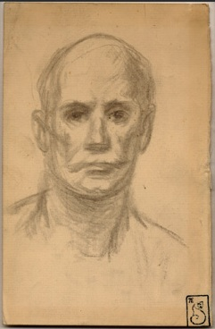 Head of a Man - Theophile Steinlen