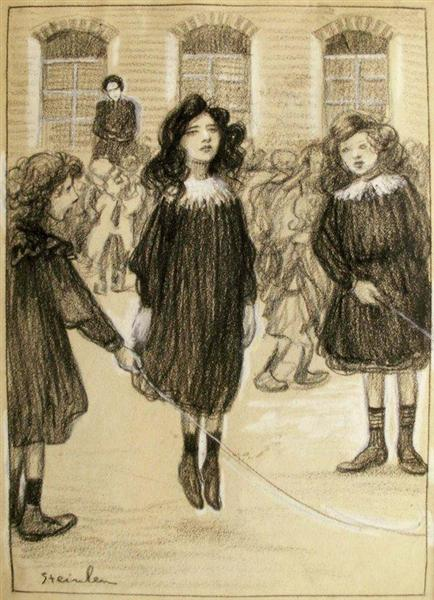 Jumping Rope - Theophile Steinlen