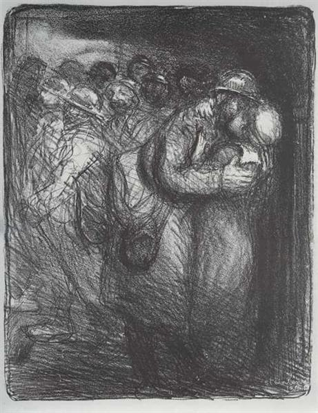 L'Adieu, 1916 - Théophile Alexandre Steinlen