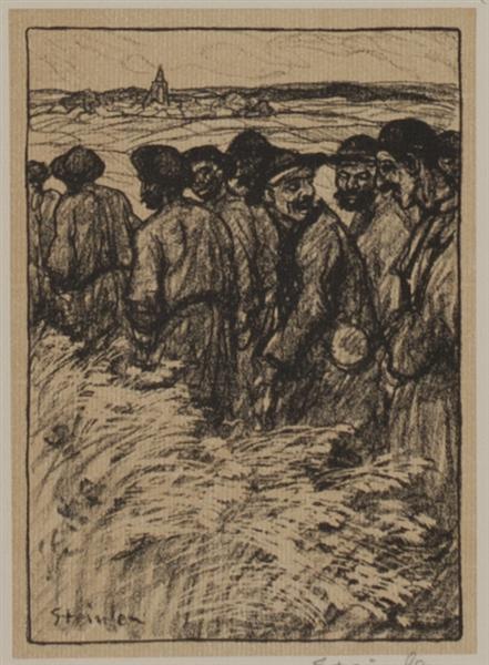 L'Train des Geules Noires, 1907 - Theophile Steinlen