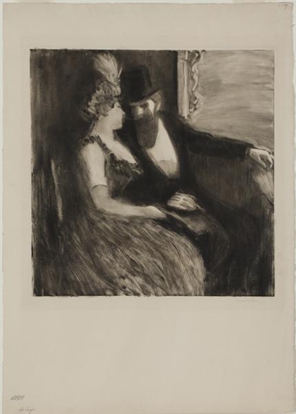 La Loge, 1894 - Theophile Steinlen