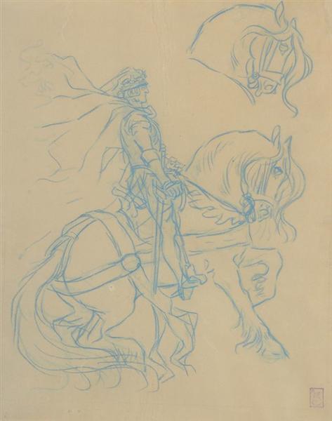 Le Chevalier a la Fee - Théophile Alexandre Steinlen