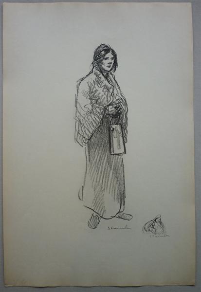 Le Lait, 1916 - Theophile Steinlen