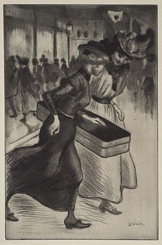 Les Deux Trottins, 1902 - Теофіль Стейнлен