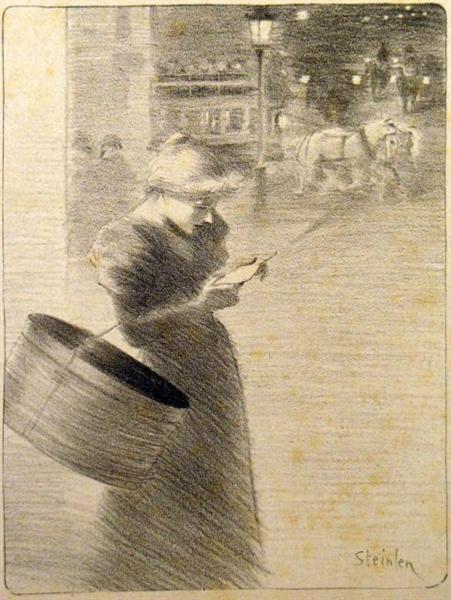 Lettre a Ninon, 1897 - Theophile Steinlen