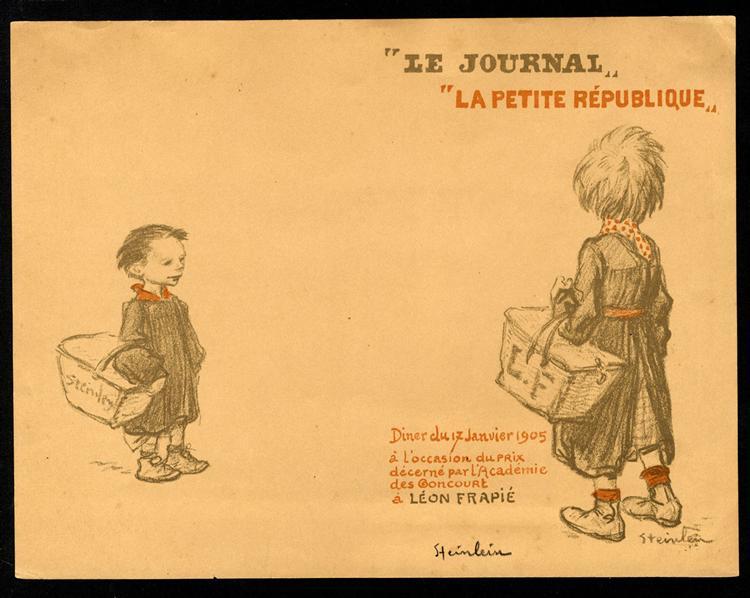 Menu Leon Frapie, 1905 - Theophile Steinlen