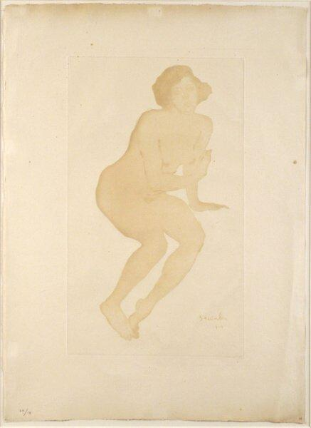 Nude etching - Theophile Steinlen
