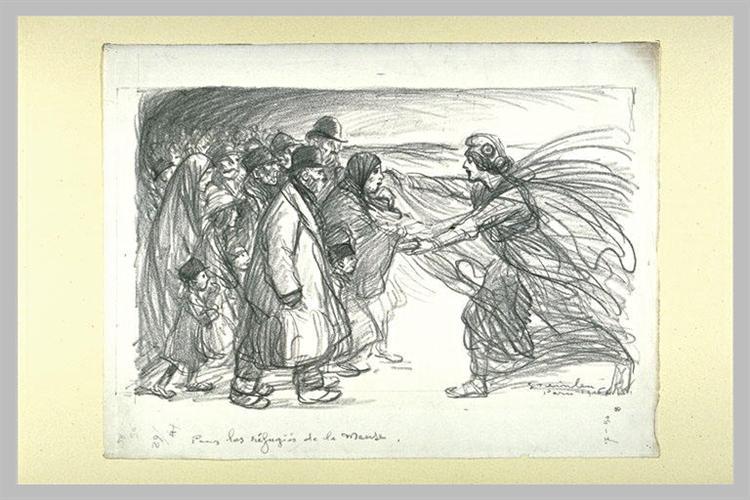 Pours Les Refugies de la Meuse - Theophile Steinlen