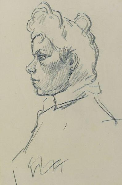 Profile of woman - Theophile Steinlen