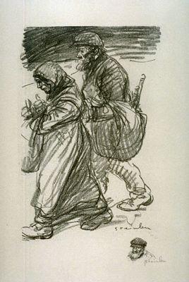 Refugees, 1916 - Théophile-Alexandre Steinlen