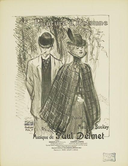 Rupture d'Automne, 1899 - Theophile Steinlen