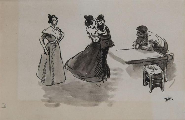 Scene de Bal - Theophile Steinlen