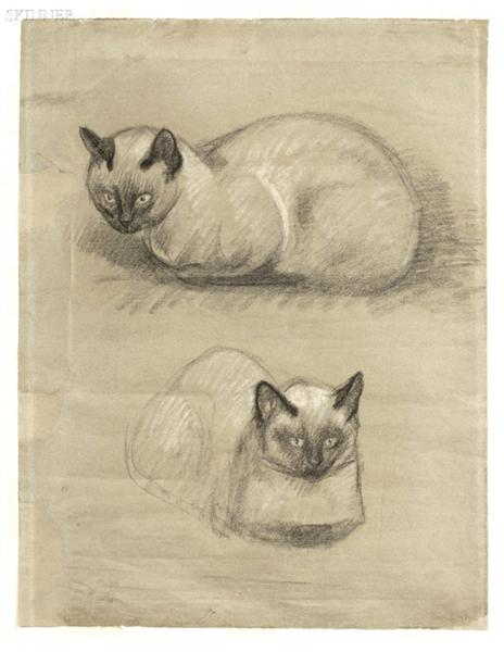 Siamese Cats - Theophile Steinlen