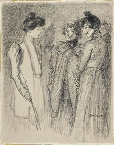 Three Women - Theophile Steinlen