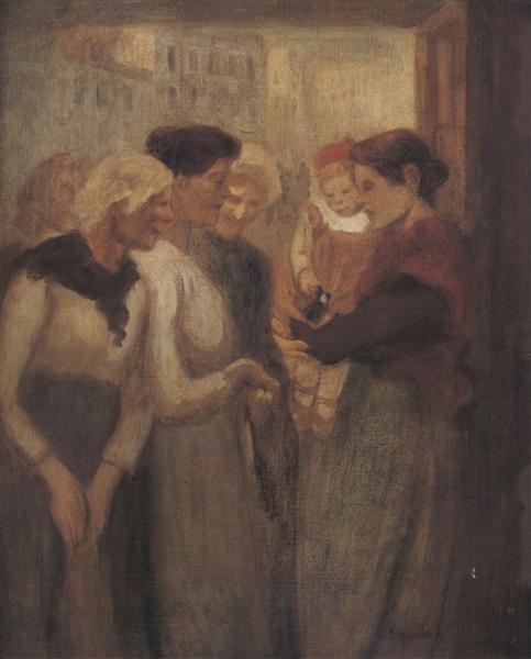 Women Conversing, 1895 - Theophile Steinlen