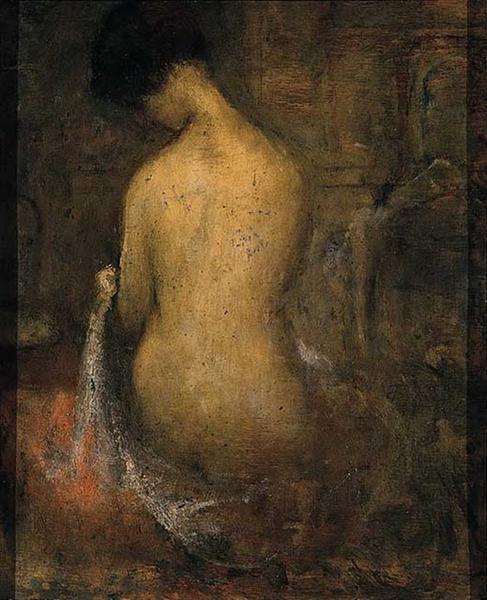 Seated Nude - Theophrastos Triantafyllidis