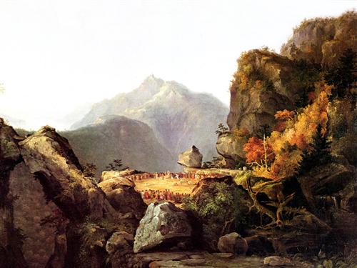 Scene from 'The Last of the Mohicans', by James Fenimore Cooper - Thomas Cole