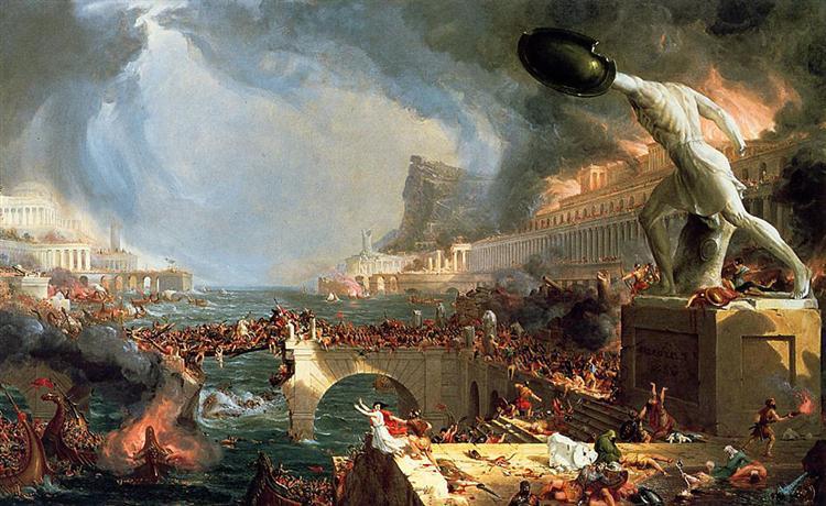 The Course of Empire: Destruction, 1836 - Thomas Cole