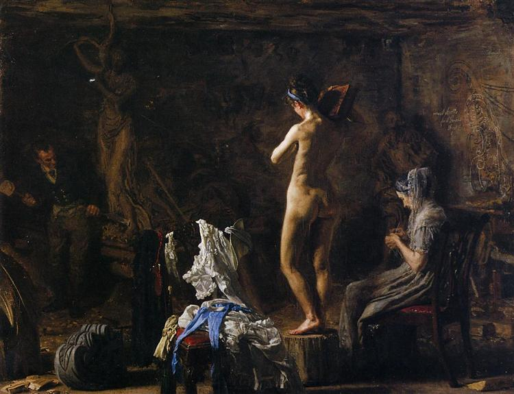 William Rush Carving His Allegorical Figure of the Schuykill River - Thomas Eakins