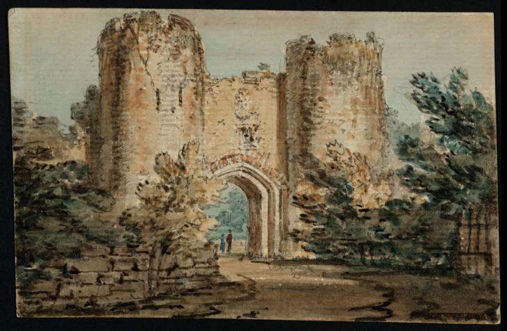 A Gateway with Two Round Towers, 1797 - Thomas Girtin