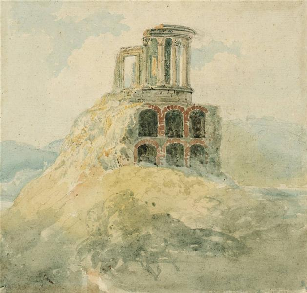A Temple of Vesta - Thomas Girtin