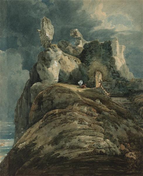 Bamburgh Castle, Northumberland, 1799 - Thomas Girtin