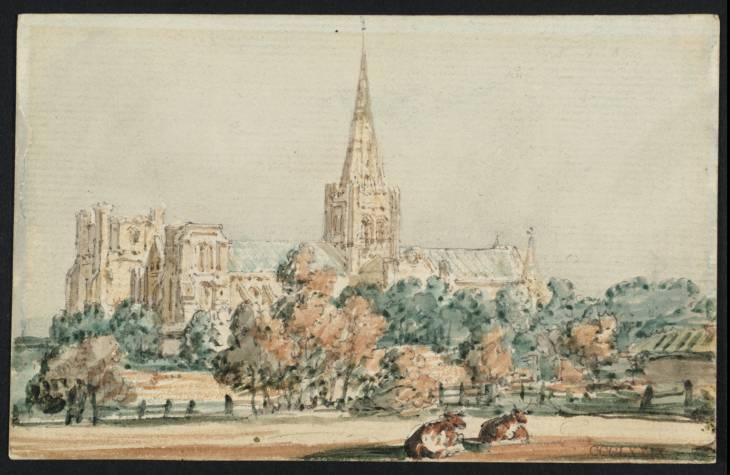 Chichester Cathedral from the South West, 1797 - Thomas Girtin